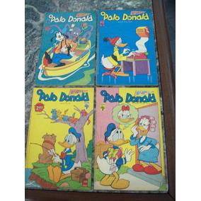 Pacote 2 - Com 4 Gibis Antigos Do Pato Donald
