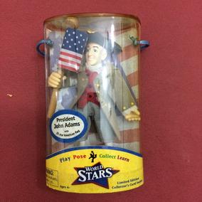 Boneco Típico Dos Estados Unidos, Presid Adams, 10 Cm