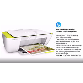 Multifuncional Jato De Tinta Color Deskjet Advantage 2135 Hp