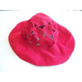 Antigo Chapéu Feminino Em Croché - Vermelho 17cm 6e286ba04b8