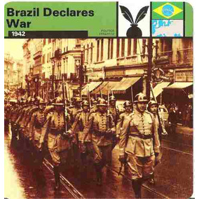 Encarte - Brasil Declara Guerra - 2ª Guerra Mundial - 1942