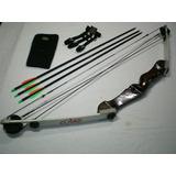 Arco Composto Cobra -branco + 3 Flechas + Luva + Braceira