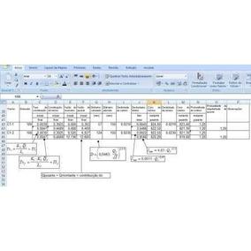 Automatização De Cálculos De Hidraulica Com Planilhas Excel