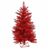 Arbol / Pino De Navidad Color Rojo Mini 61cms