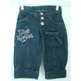 Lilica Ripilica - Bermuda Jeans. Tamanho 02.