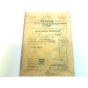 Bilhete Transatlantico Italiano Conte Biancamano Ano 1933