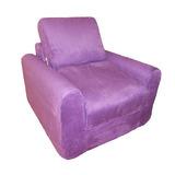 Diversión Muebles Silla Sleeper - Púrpura Micro Suede