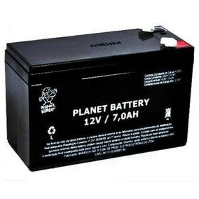 Bateria Selada 12v 7ah Planet Nobreak E Segurança Eletrônica