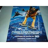 Cartaz Original Dupla-face Do Filme Como Cães E Gatos 2