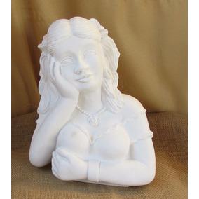 Estátua Boneca Namoradeira N°2 Em Gesso Sem Pintura