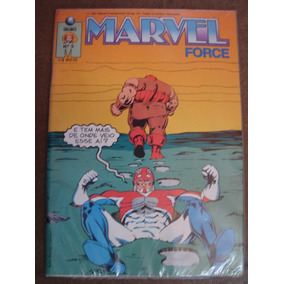 4 Gibis Marvel Force Nºs 1 Ao 8 Ed. Globo