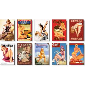 Pinup Retro Vintage - Kit Com 10 Imãs De Geladeira