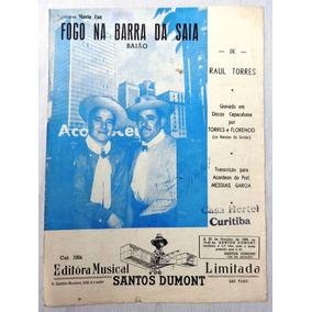 Partitura - Fogo Na Barra Da Saia - Baião - Raul Torres