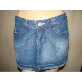 Mini Saia Jeans - Marisa Girls Denin Nº 40