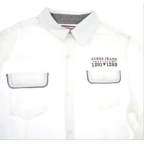 Guess Camisa Blanca T 12-14 Corte Regular Casual C289 17a2a97046250