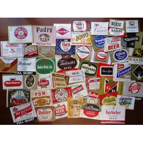 50 Rótulos Diferentes De Cerveja - Anos 40 A 70 - Originais!