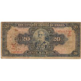 Brasil R-119c, 20 Mil Réis 1936 Autografada Série 314 Bc/mbc