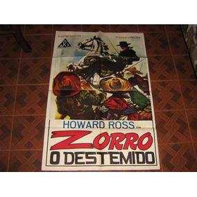 Cartaz De Cinema Original Zorro O Destemido Déc.70 Art Films