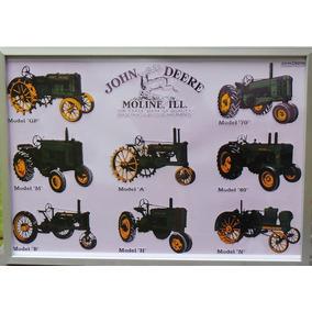 Cuadro Con Lamina De Publicidad Tractores John Deere