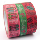 Fita Adesiva Washi Tape Barbie Kit Com 3 Decotapes