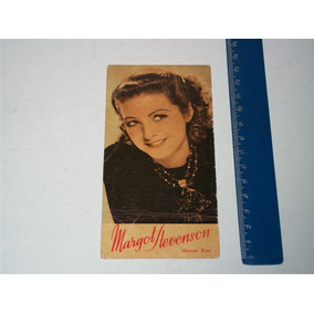 Foto Card Promocional Atriz Margot Stevenson Anos 50 Warner