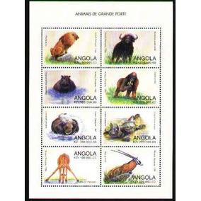 Angola 1998 Animais De Grande Porte Mamíferos Folhinha De 8