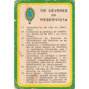 Calendário Bolso 1967 - Os Deveres Do Reservista - Aj8