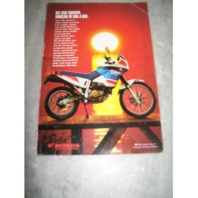 Propaganda Antiga Moto Honda Nx 350 Sahara