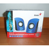Speakers O Parlantes Genius Usb Color Azul Nuevo