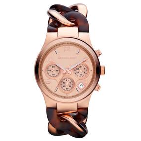 2363ee4e7e7 Relógio Michael Kors Feminino Mk 4269 Rosê Com Tartaruga - Relógios ...