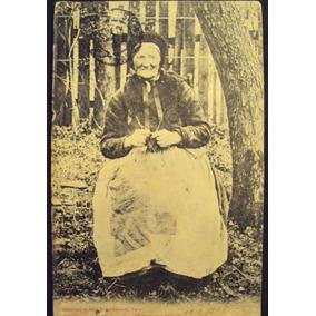 Cartão Postal Antigo Francês Com Senhora 1905