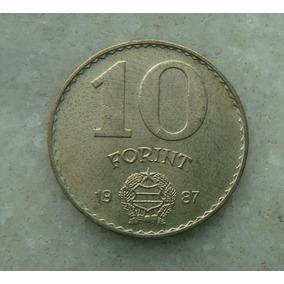 8300 - Hungria 10 Forint 1987, 25mm , Bron/alum Fotos!