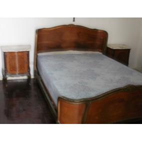 Juego De Dormitorio Frances Cama Comoda Mesas De Luz Espejo