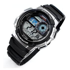 1d2259fde8e Relógio Casio Ae 1000 W Horario Mundial 5 Alarmes Wr 100m Pt ...