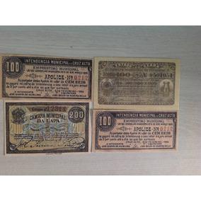 L1024 - 100/200 Réis Muns Lapa Cruz Alta Ceará Réplicas 1895