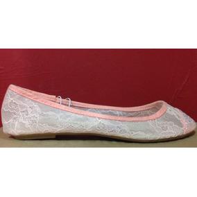 Flats Encaje Dollhouse Glitters Delicados Balerinas Rosas.