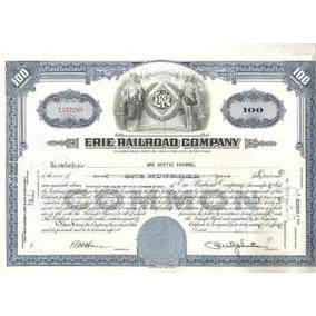 Apolice - Erie Railroad Company 1956