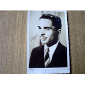 Foto Postal Em P&b Do Rei Hussein Da Jordânia - Dècada De 60