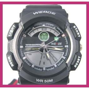 Relógio De Pulso Weide-sport Black Japan-importado