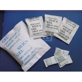 Silica Gel Azul - Pacote Com 100 Sachês De 10g