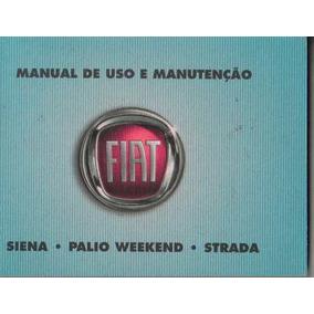Manual Proprietário Siena El G4 2012 2013 Kit Complet C/capa