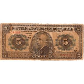 Brasil - R-095, 5 Mil Réis 1913 Autografada Série 108 Bc/mbc