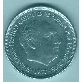 Moeda Espanha 25 Ptas Níquel 1957