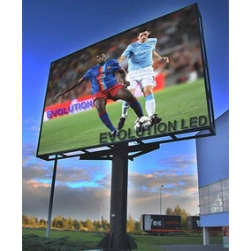 Painel Led Outdoor 4x2 P10 Full Color Completo Com Estrutura