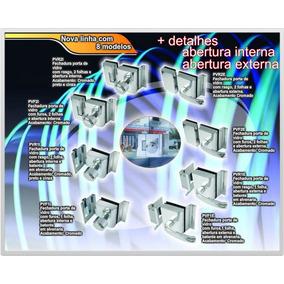 Fechadura Elétrica Cromada Agl Porta Vidro Temperado + Nota