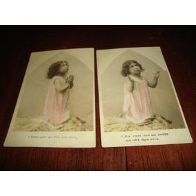 Cartões Postais Antigos - Criança Rezando
