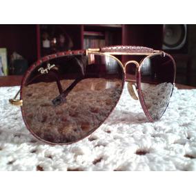 4a614c8be01e8 Oculos Ray Ban - Shooter Leather - Caçador Em Couro