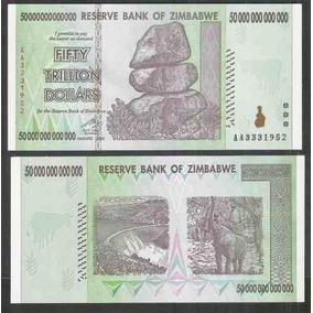 82.075 - Zimbabue - 50 Trilhões De Dollars - 2008 - F E