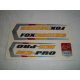 Adesivo Colante Bike Fox Racing Preto/amarelo