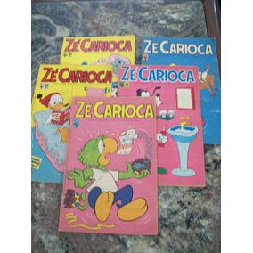Pacote 6 - Com 5 Gibis Antigos Do Zé Carioca